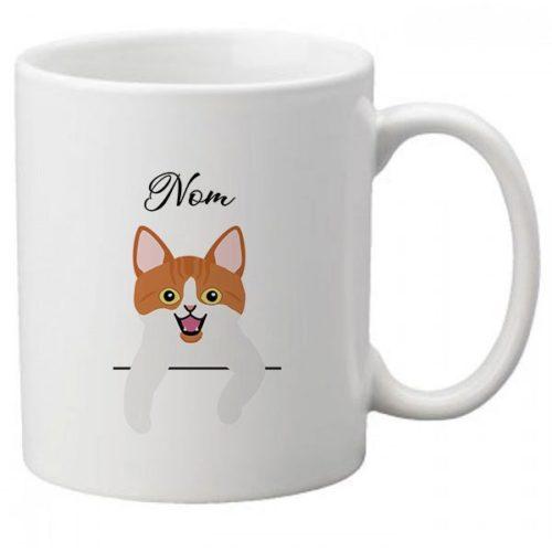 Mug-chat-personnalisé-européen-bicolore-roux-et-blanc