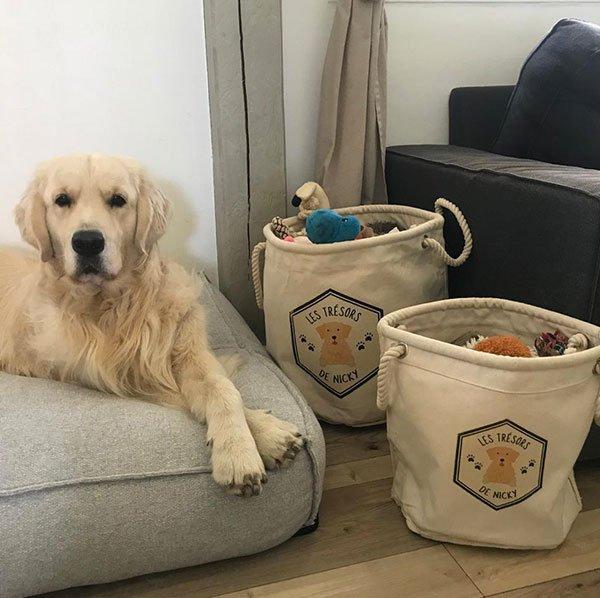 sac à jouet chien