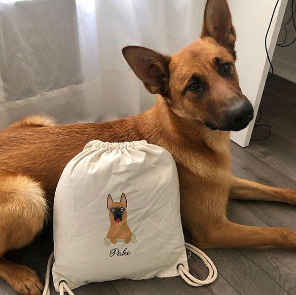sac de gym chien