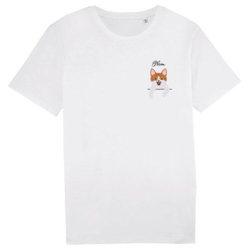 tee-shirt-chat-européen-bicolore-roux-et-blanc-homme