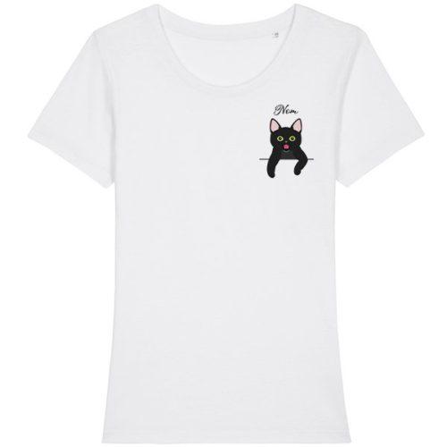 tee-shirt-chat-européen-noir-femme