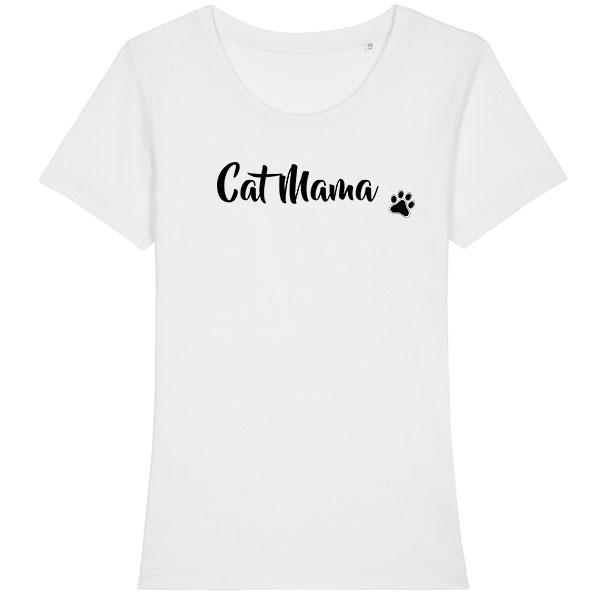 Tee Shirt Cat mama Femme