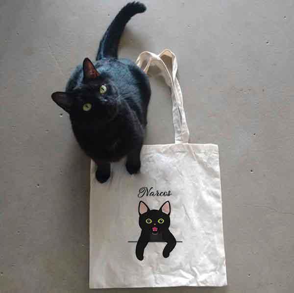 Tote bag chat personnalisé