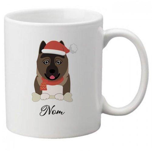 mug-chien-noel-Akita-Americain