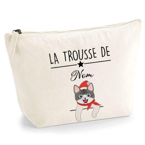 trousse-chat-noel-européen-bicolore-gris-et-blanc