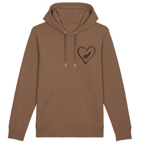 hoodie-coeur-personnalisé-épais-caramel