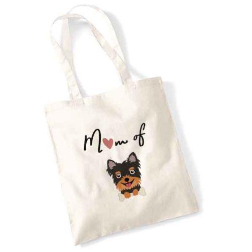 Tote bag Mom of yorkshire noir et fauve