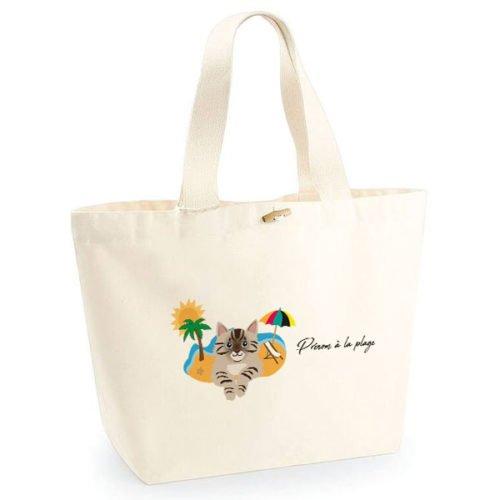 sac-de-plage-chat-tigre-marron